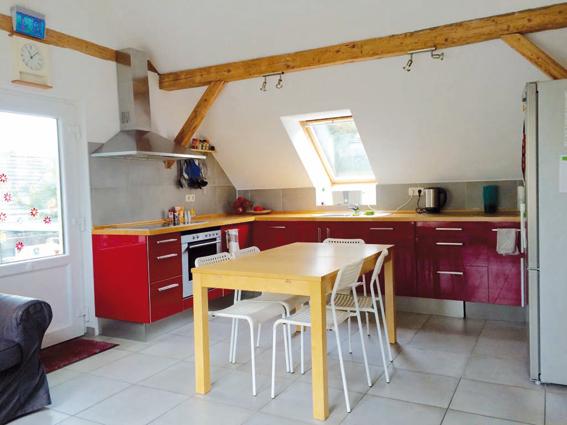 """Blick in die Wohnküche im """"Abenteuerland"""""""