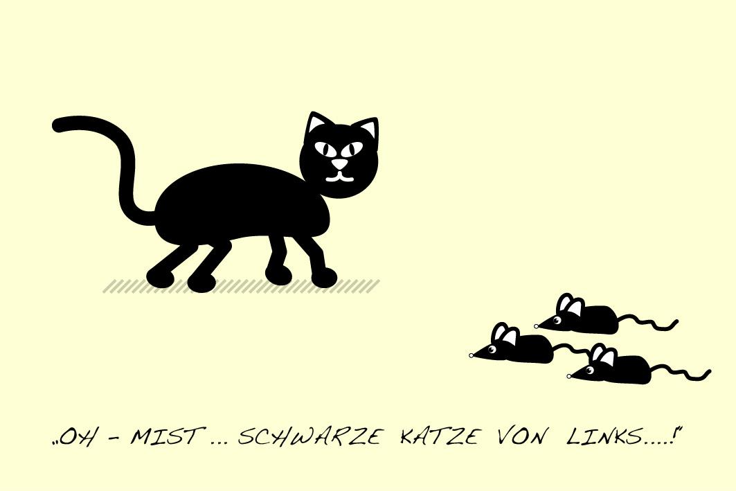 Katze und Mäuse